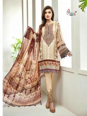 off white pure lawn fabric printed work party