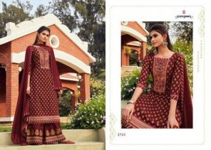 brown rayon fabric embroidery work ethnic