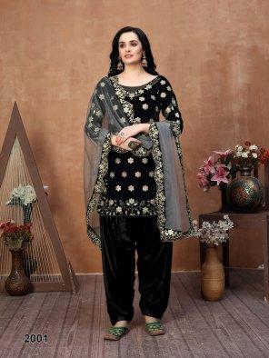 black velvel fabric embroidery work ethnic