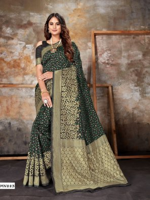 black banarasi silk fabric zari work work party