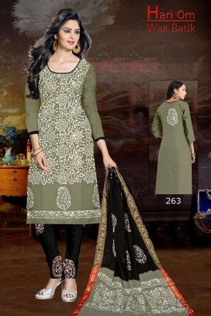 light mhendi green cotton fabric print work daily
