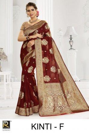 maroon silk fabric weaving work ethnic