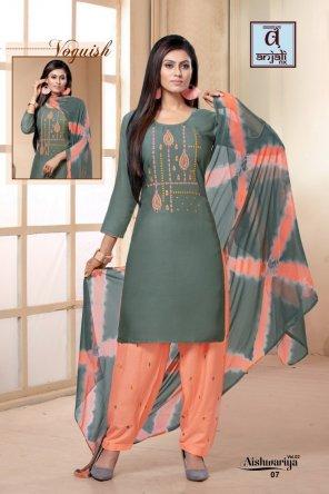 olive rayon fabric fancy work work festival