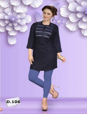 black rayon fabric touch up work causal