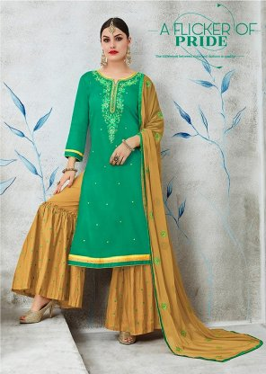 rama  cotton silk  fabric embroidery work fastive wear