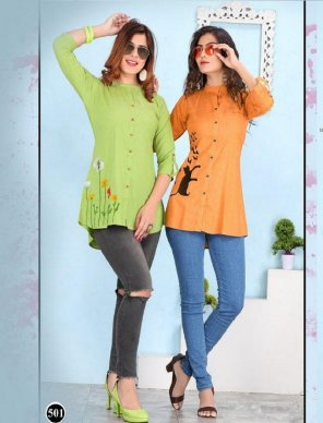 light pista heavy rayon fabric embroidery work casual