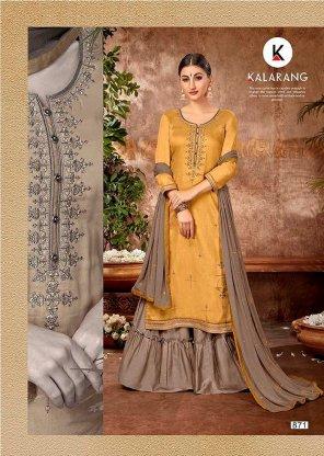 yellow cotton silk  fabric embroidery work wedding