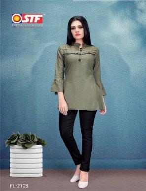 grey heavy rayon slub fabric touch up work casual