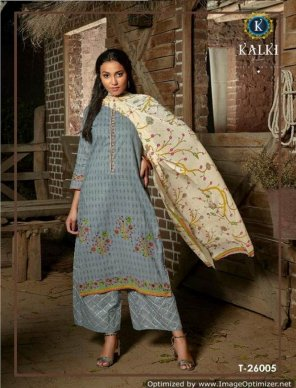 grey lawn cotton fabric printed work casual
