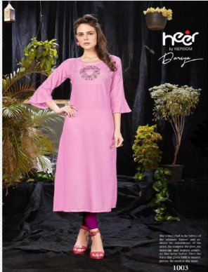 pink heavy rayon fabric embroidery work festival