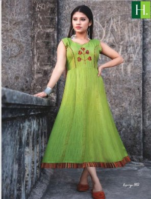 parrot heavy rayon khadi fabric embroidery work festival