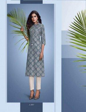 grey muslin lurex fabric printed  work casual
