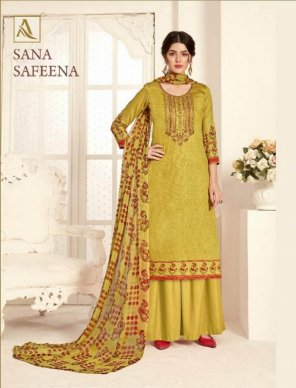 corn yellow zam cotton fabric embroidery and diamond  work festival