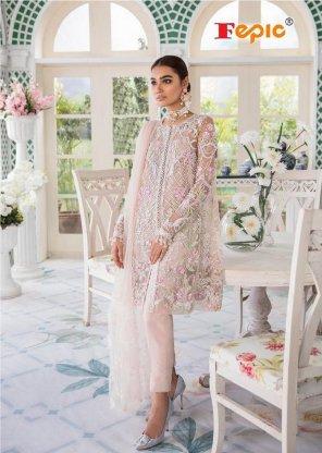 white net fabric embroidery work wedding