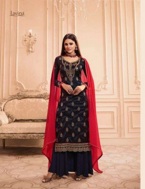 black pure banglori silk fabric heavy embroidery work festival