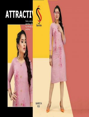 pink handloom cotton fabric embroidery work casual