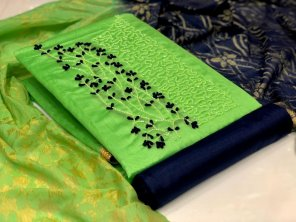 parrot modal fabric fancy embroidery work festival