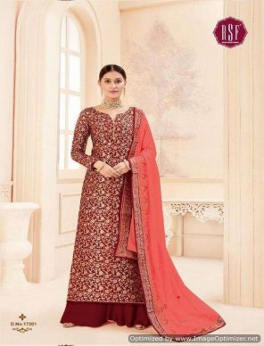 maroon pure jaquard silk fabric heavy embroidery work wedding