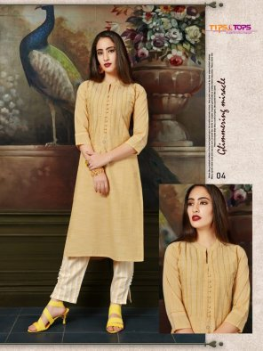 light yellow cotton fabric embroidery work casual