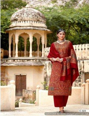 maroon jacquard fabric weaving work festival