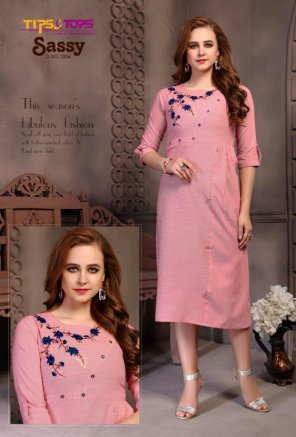 pink heavy cotton  fabric heavy embroidery work casual