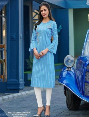 sky cotton jacquard fabric embroidery work casual