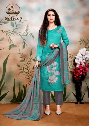 mint pure cotton fabric printed work casual