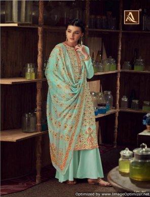mint pure wool pashmina  fabric kashmiri digital print with swaroski diamond work festival