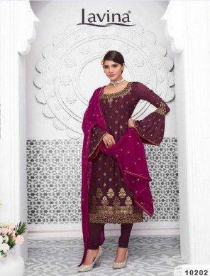 magenta pure banglori silk fabric embroidery work wedding