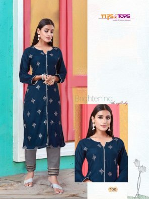 navy blue rayon with cotton fabric touch up embroidery work festival