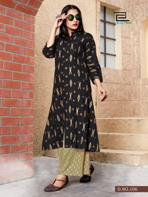 black rayon  fabric gold print work festival