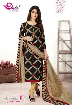 black pure cotton fabric printed work casual