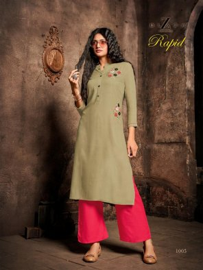 olive heavy rayon fabric handwork work casual