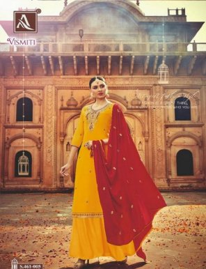 yellow pure georgette fabric embroidery work wedding