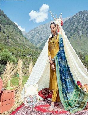 mustard yellow neeta silk fabric embroidery work casual