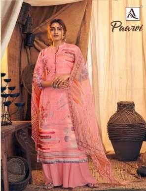 pink pure wool pashmina fabric digital print work festival