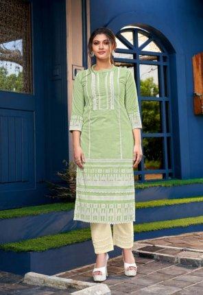 pista pure cotton fabric block print work casual