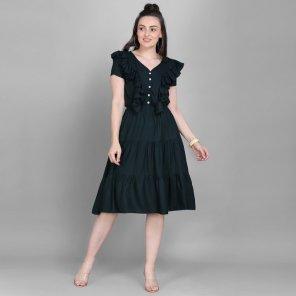 charcol rayon fabric palin work casual