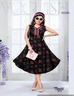 black cotton fabric print work casual