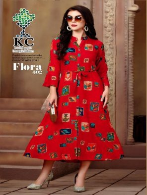 red rayon fabric foil print work festival
