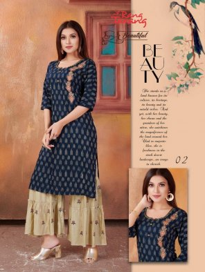 navy blue heavy rayon fabric touch up  work festival