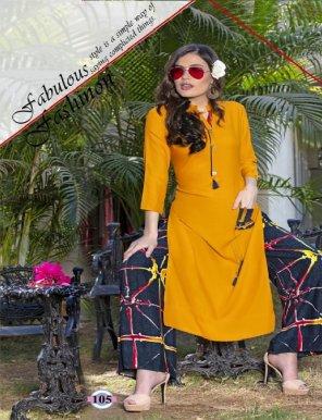 mustard yellow rayon fabric plain work casual