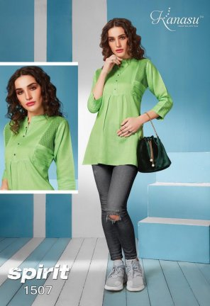parrot heavy rayon fabric embroidery work casual