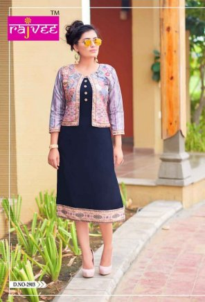 navy blue rayon fabric digital print  work casual