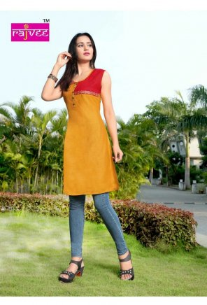 mustard yellow rayon fabric plain work casual