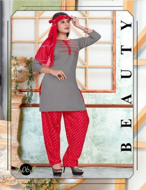 grey with sky rayon fabric embroidery work casual