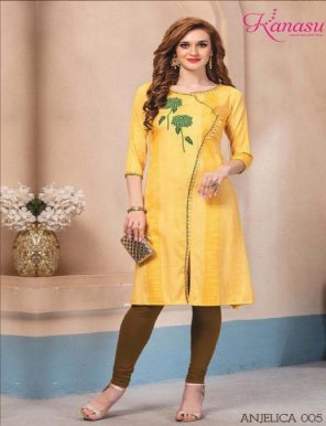 light yellow cotton fabric printed work casual