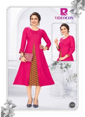 hot pink heavy rayon fabric plain work casual