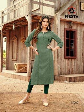 green khadi silk fabric embroidery work casual