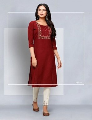 marun cotton fabric simple embroidery work daily
